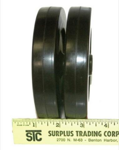 """5""""x7/8"""" 1/4""""I.D. black Non-mar wheel set of 2"""