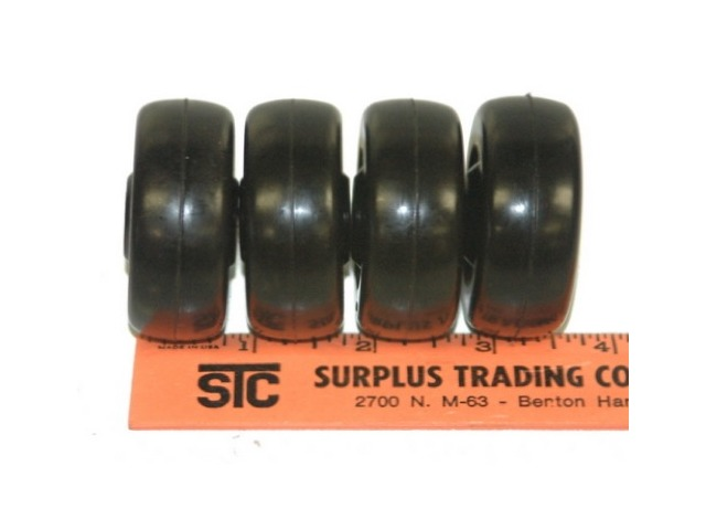 "2""x3/4"" 1/4""I.D. black Non-mar wheel set of 4"
