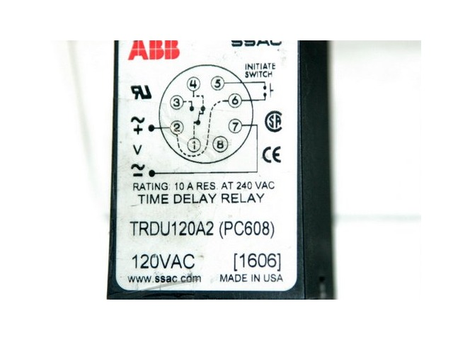 ABB Time Delay Relay 120 VAC #TRDU120AA2
