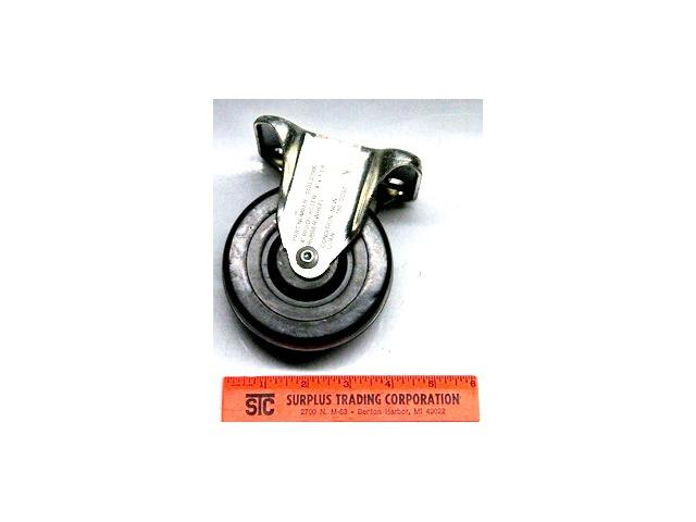 "4"" x 1 1/4"" Set of 4 -  Rigid Rubber Wheel Caster #23900"