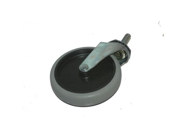 "5"" x 1""  4 pc set - Non Mar Swivel Thermoplastic Wheel caster, Threaded stem 1/2-13x1.5"" Faultless, 30807"