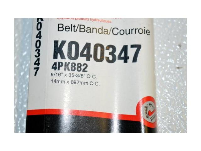 Gates K040347 - Alternate Number 4PK882 - Micro - V Belt New Old Stock