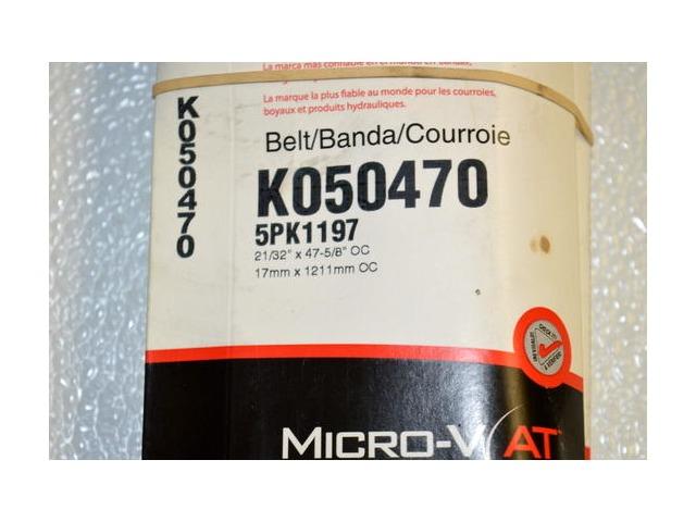 Gates K050470 - Alternate #5PK1197 - Micro - V Belt - New Old Stock