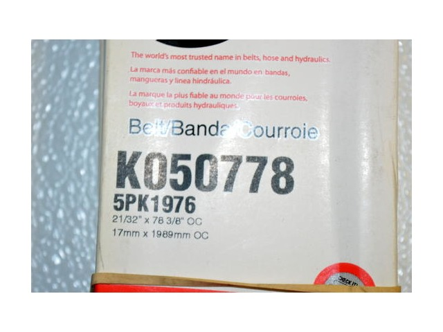 Gates K050778 - Alternate #5PK1976 - Micro-V Serpentine Belt - New Old Stock