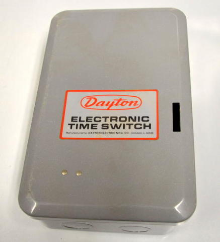 Dayton #5A687 - Electronic 365 Day Time Scitch Timer - New - No box.