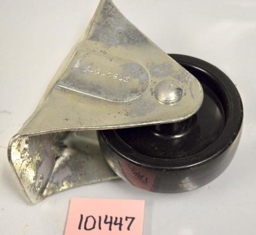 """4"""" x 1 1/4"""" Plastic Whl Rigid Plate Mt Caster - 1 pc - 6 1/8""""x3"""" plate #101447"""
