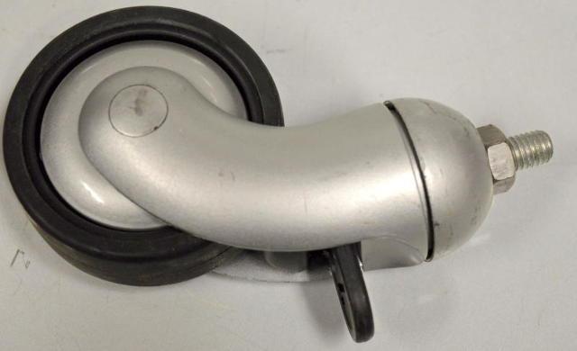 Commercial Metric Wheel Caster-Total Lock-#10 Stem w nut-#104795 - 4 Pcs