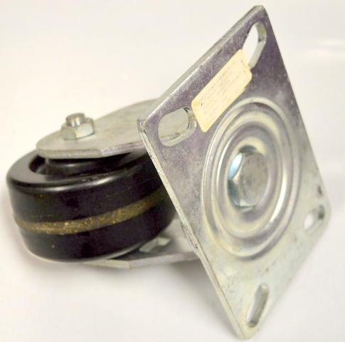 "4""x2"" Swivel Plate Mount Phonolic Caster #6840-01-PHN - 800# Rating - 1 PC."