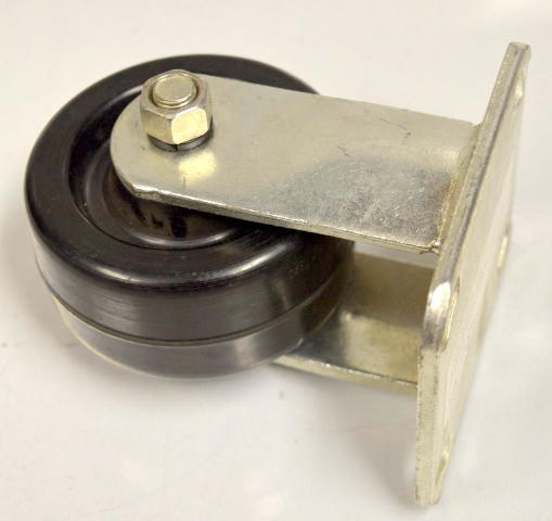 "4""x2"" Rigid Plate Mount Caster - Phenolic Weel 700# Rated - #6395 - 1 Pc."