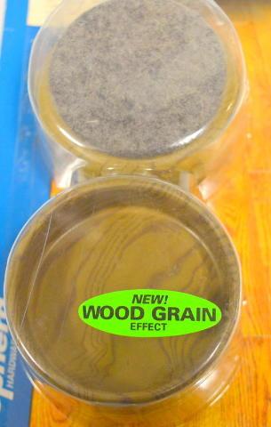 """Shepherd Hardware #9362 - Caster cups Felt Bottom - Wood grain -2 3/8"""" - 1 - 4 pc pk."""