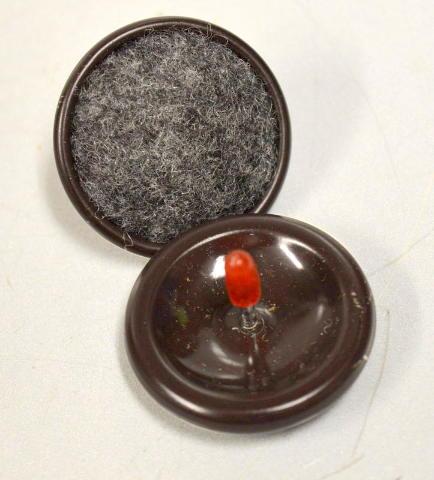 Nail-On Furniture Glide-Carpeted Bottom - 1.25 Dia. - Bulk Packaging. - 16 pcs.