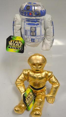 2 Star Wars Bean Bag Buddies: R2-D2 and C-3PO