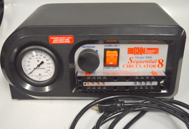 Sequential Circulator Model 3008 w/ 2-8 Chamber Lower Extremity Sleeve Size:L