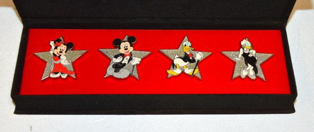 Disney, Where Dreams HapPin, Pin Celebration 2007 - 4 Pin Box Set.