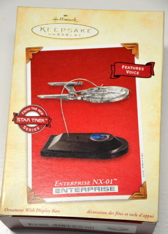 Hallmark Star Trek Ornametn Enterprise NX-01 - Features Voice