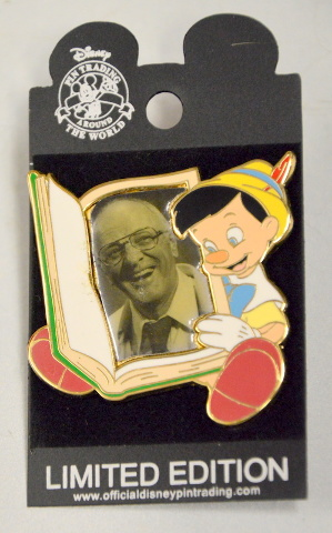 Disney Limited Edition Pin - Milt Kahl creator with Pinocchio.