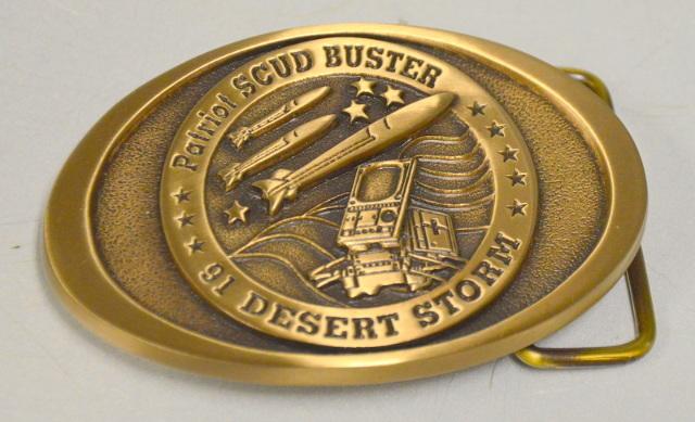 Patriot SCUD BUSTER 91 Desert Storm Belt Buckle - #081B