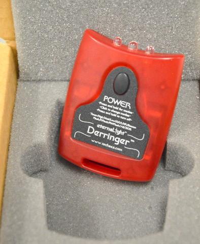 eternaLight Flashlight - Model L1 - Derringer  2 White LED's and 1 Red LED.