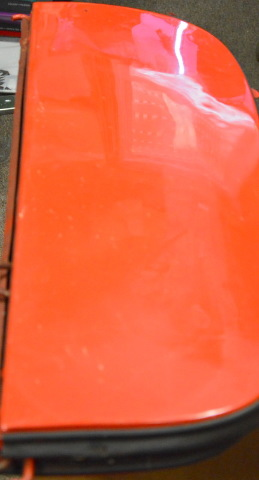 1951 Chevrolet Fleet Line Fender Skirts - Red