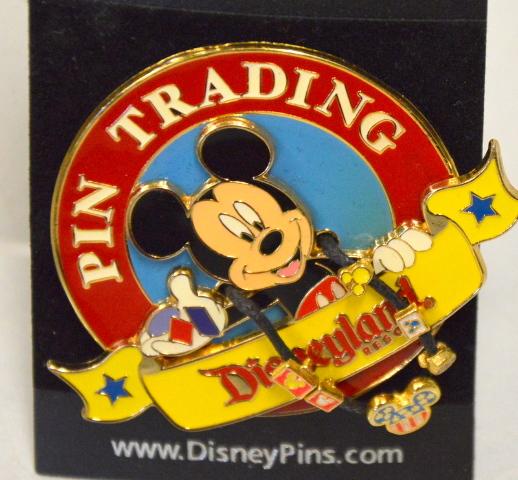 Disney Pin - Disneyland Resort - Mickey wearing lanyard -189479