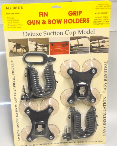 All Rite's Gun and Bow Holders, Fin Grip Deluxe Suction Cup Model