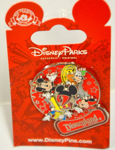 Disney  Spinner Pin, #88134, 2012, Mickey,Minnie,Donald and Goofy