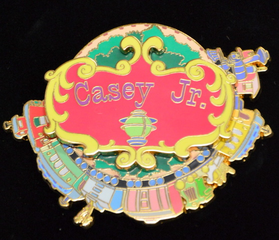 Disney Auction Casey Jr. - Circus Train Spinner Pin LE500 #DP00796