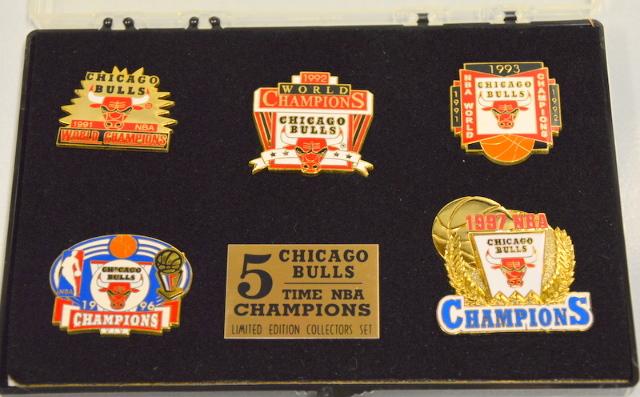 Chicago Bulls 5 Time NBA Champions- LE Collectors Set