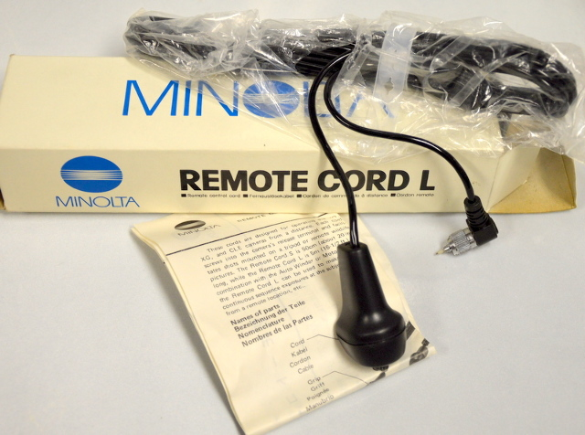 Minolta Remote Cord L 16.5' designed for XD, XG and CLE cameras. #8035-200