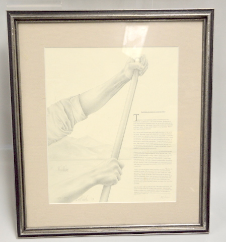 """Framed Picture of Partner of Choice 10"""" x 12"""" - with Frame 17"""" x 15"""". LE 396 /1000"""