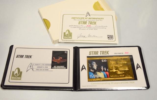 Star Trek Gold stamp #2114 Commemorating 30 Years of Star Trek January 4,1996