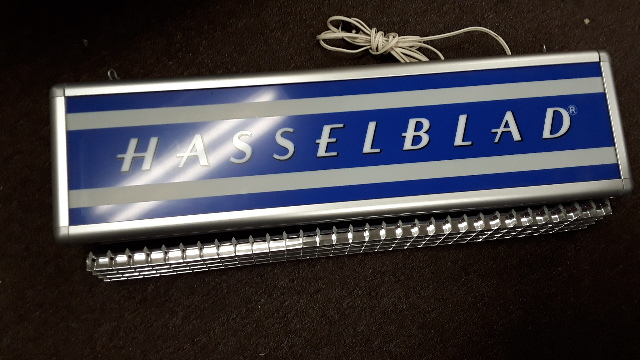 "Vintage Hasselblad Lighted Sign Advertising -  26"" x 5"" x 7"" Fluorescent Fixture"