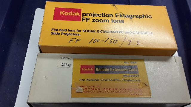 Kodak Projection Ektagraphic FF Zoom Lens 143-3432+Kodak Remote Extension Cord