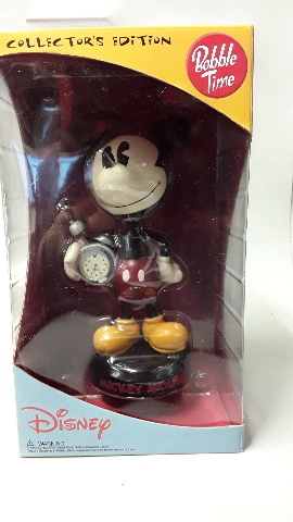 Diisney Collectors Edition Mickey Bobble Head Figurine Clock - CL0054