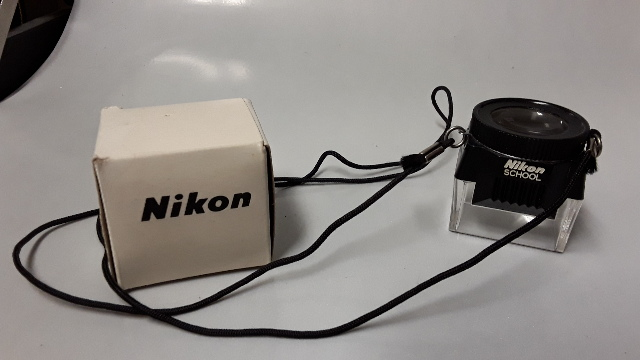 Nikon School 8X Magnifier for Negative and Slides  with Lanyard.