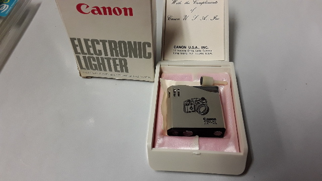 Canon F-1 Electronic Lighter - no Flint, No batteries, no wick, with filling funnel.