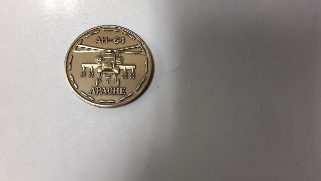 AH-64 Apache US Army Aviation Attack Pilot Challenge Coin