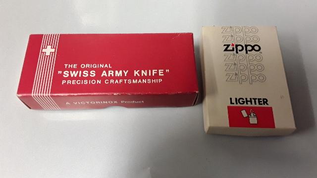 "Zippo Lighter Nasa Logo  and Original ""Swiss Army Knife - w/ Nikon Logo"