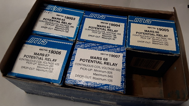 5 - Mars 685744 Potential Relay #64, #65, #66, #67 and #68 - New Old Stock