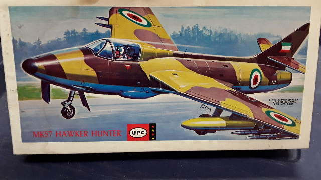 Vintage UPC MK57 Hawker Hunter #5063-100 1/50 Scale