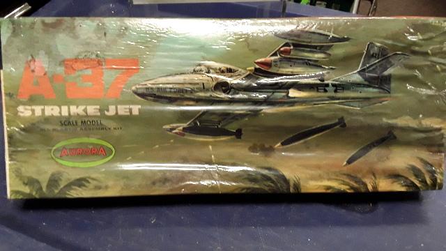 Aurora A-37 Strike Jet Scale Model Plastic Assembly Kit #147-100