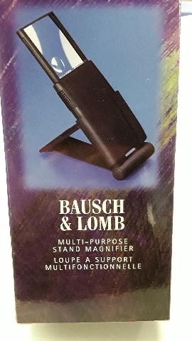 Bausch & Lomb Multi-Purpose Stand Magnifier 2X or 3X, built-in Light #81-90-14