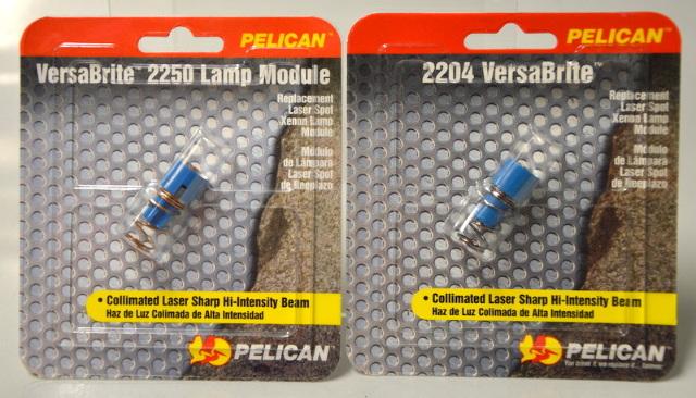 Pelican VersaBrite Replacement Laser Spot Xenon Lamp Module Bulb 2204 - 2 pcs.