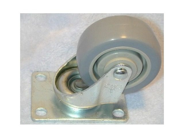 "3"" Poly-U on Poly-0 plate mount swivel caster"