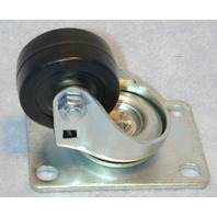 "2"" Soft Rubber Plate Mount Swivel Caster"