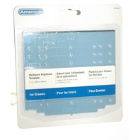 Amerock Hardware Alignment Template for Drawers #TMP-DRWR