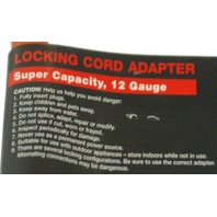 Carol Locking Cord adapter.  3 Conductor Grounded.