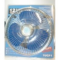 12V - 2 Speed - 8 inch - Vehicle Fan made for Grainger Intl. - New