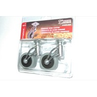 Shepherd Deisgner Chrome Wire Casters -2 pcs - New