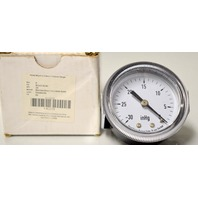 Industrial Grade 4CEY5 Panel Vacuum Gauge, U Clamp, 2 In, 30 In Hg
